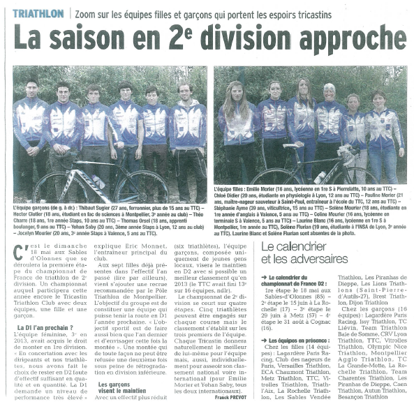 Article le dauphine d2 2014